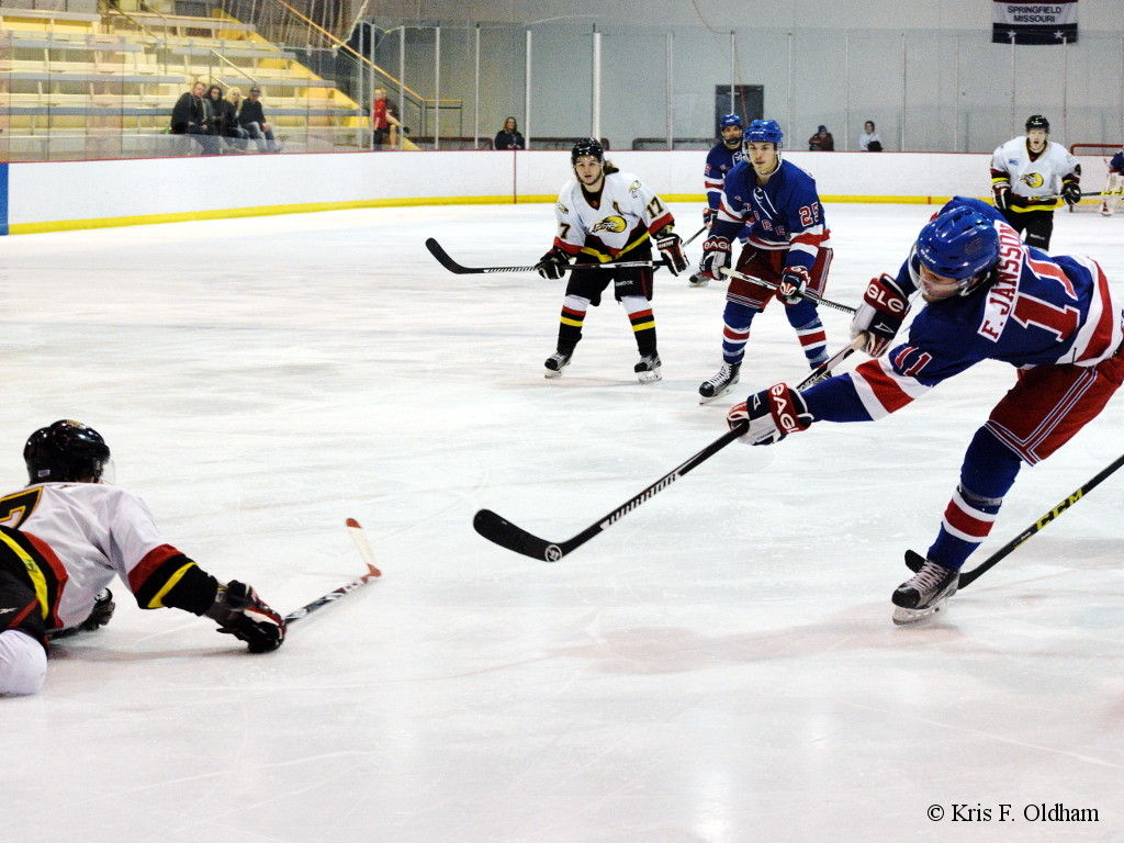 Filip Jansson of the Springfield Express WSHL takes a shot